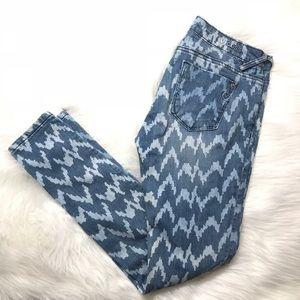 Vigoss Printed Skinny Jeans Size 28